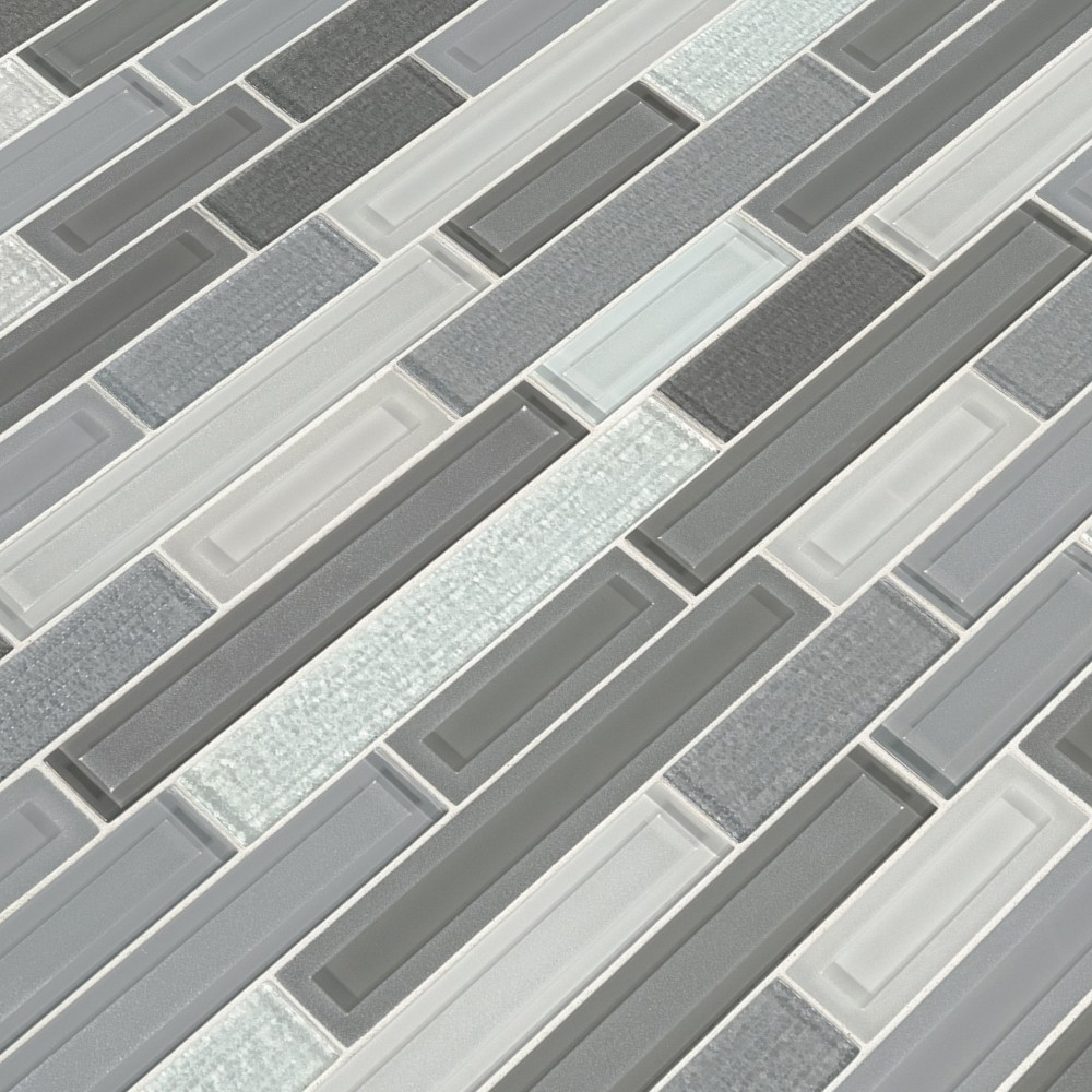Skyline Staks Interlocking Pattern Glass Mosaic