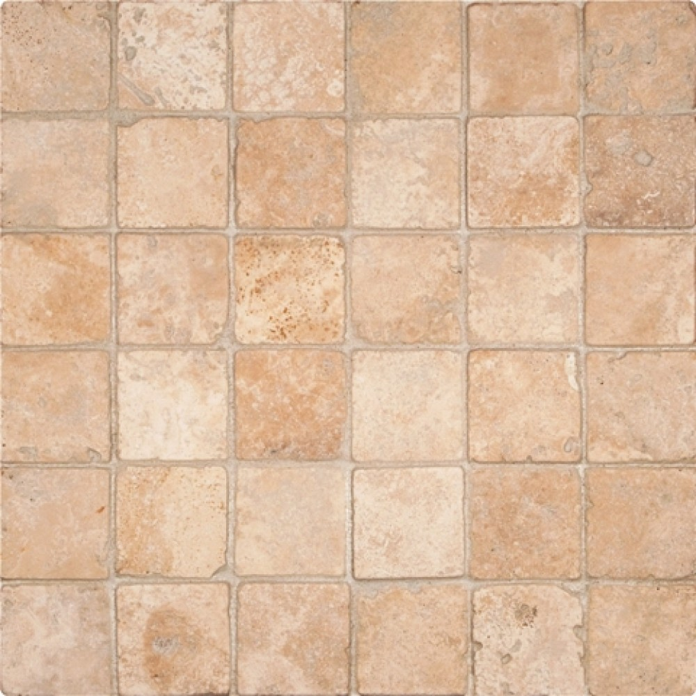 Durango 2x2 Tumbled Travertine Mosaic