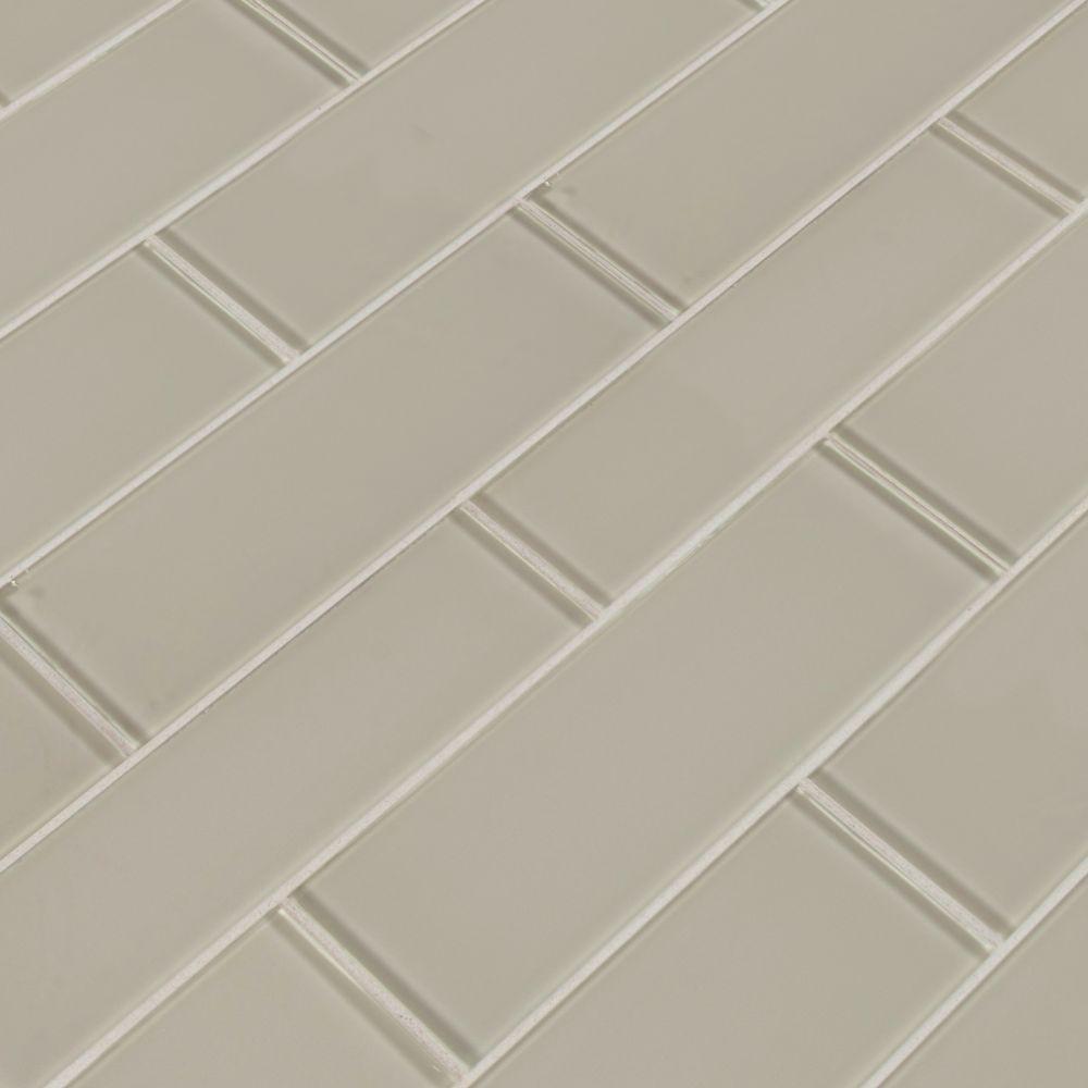 Snowcap White 3x9 Backsplash Glass Subway Tile