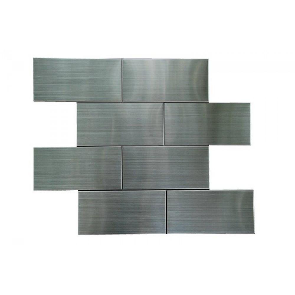 Stainless Steel 3x6 Flat Polished Subway Backsplash Tile Usa