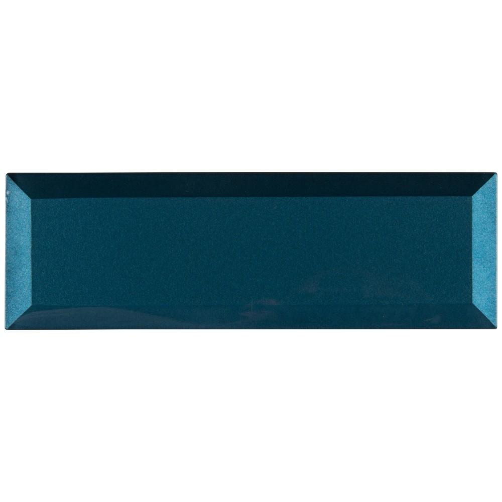 Tahiti Blue 2.5x8 Beveled Glass Subway Tile
