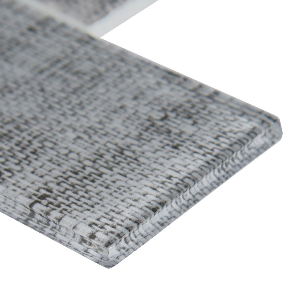 Tektalia 3X6 Recycled Glass Pattern Mosaic