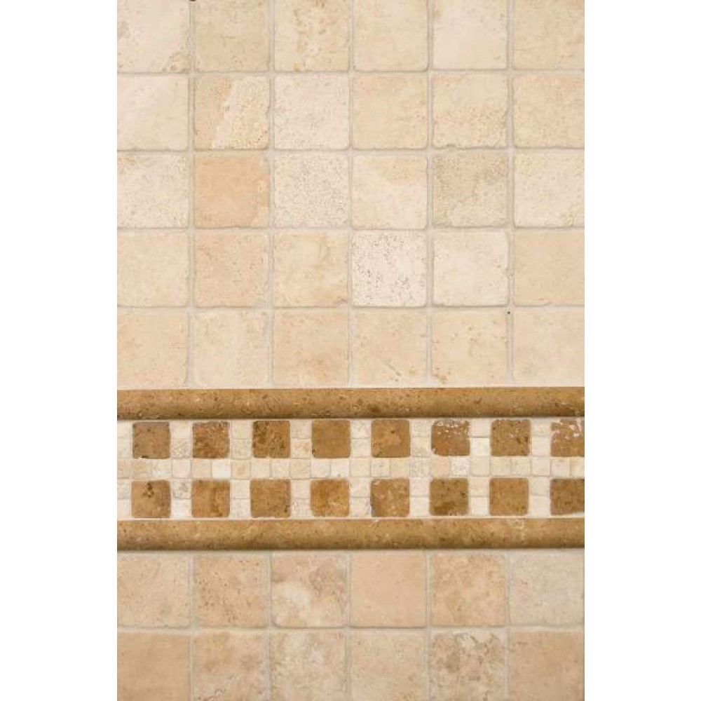 Chiaro 12X12Tumbled Travertine Mesh-Mounted Mosaic Tile