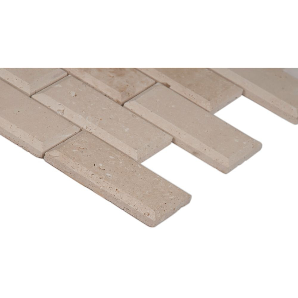 Tuscany Ivory 2x4 Honed And Beveled Subway Tile