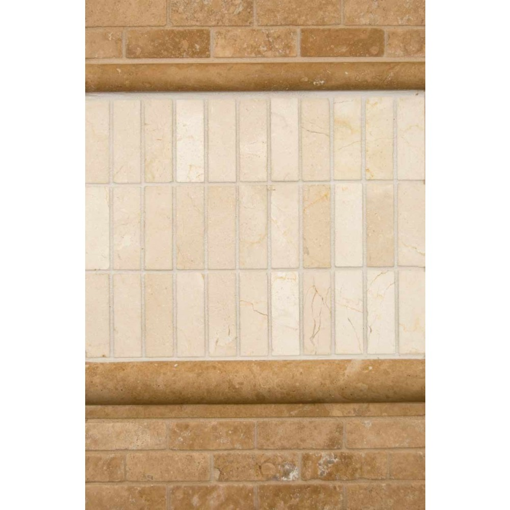 Tuscany Walnut Brick 12X12 Tumbled