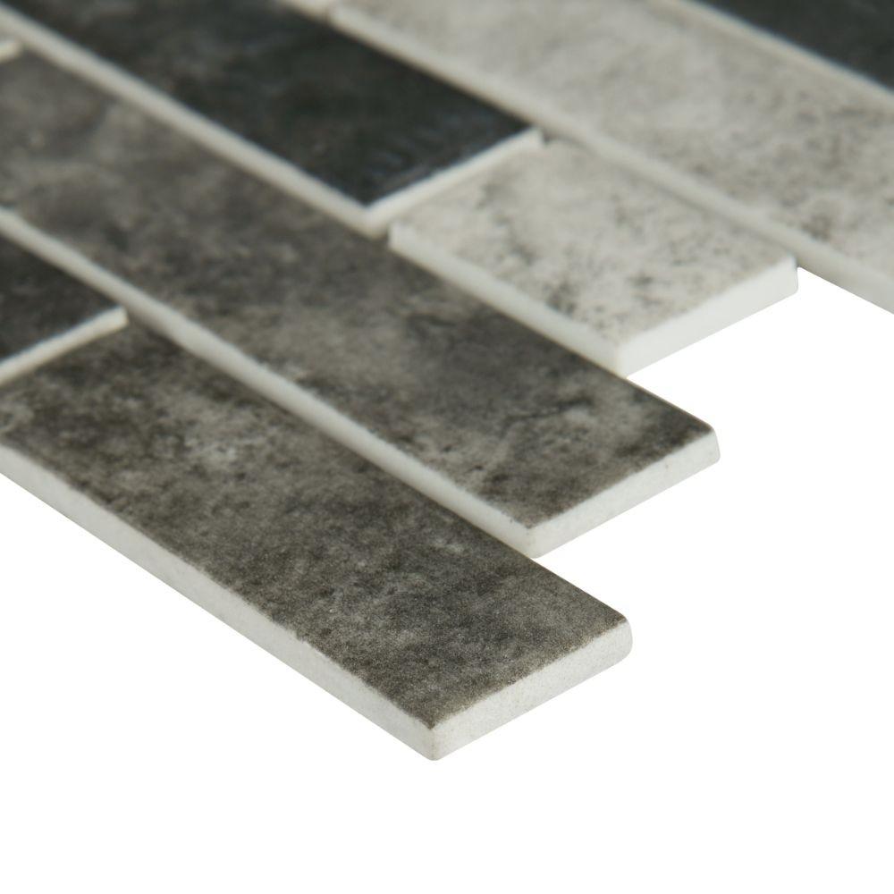 Urban Tapestry Interlocking Pattern Recycled Glass Mosaic