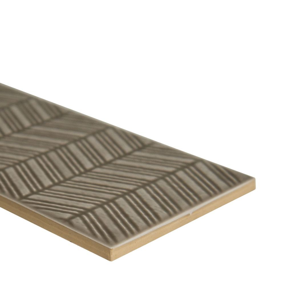 Urbano Warm Concrete 3D Mix 4X12 Glossy Ceramic Subway Tile