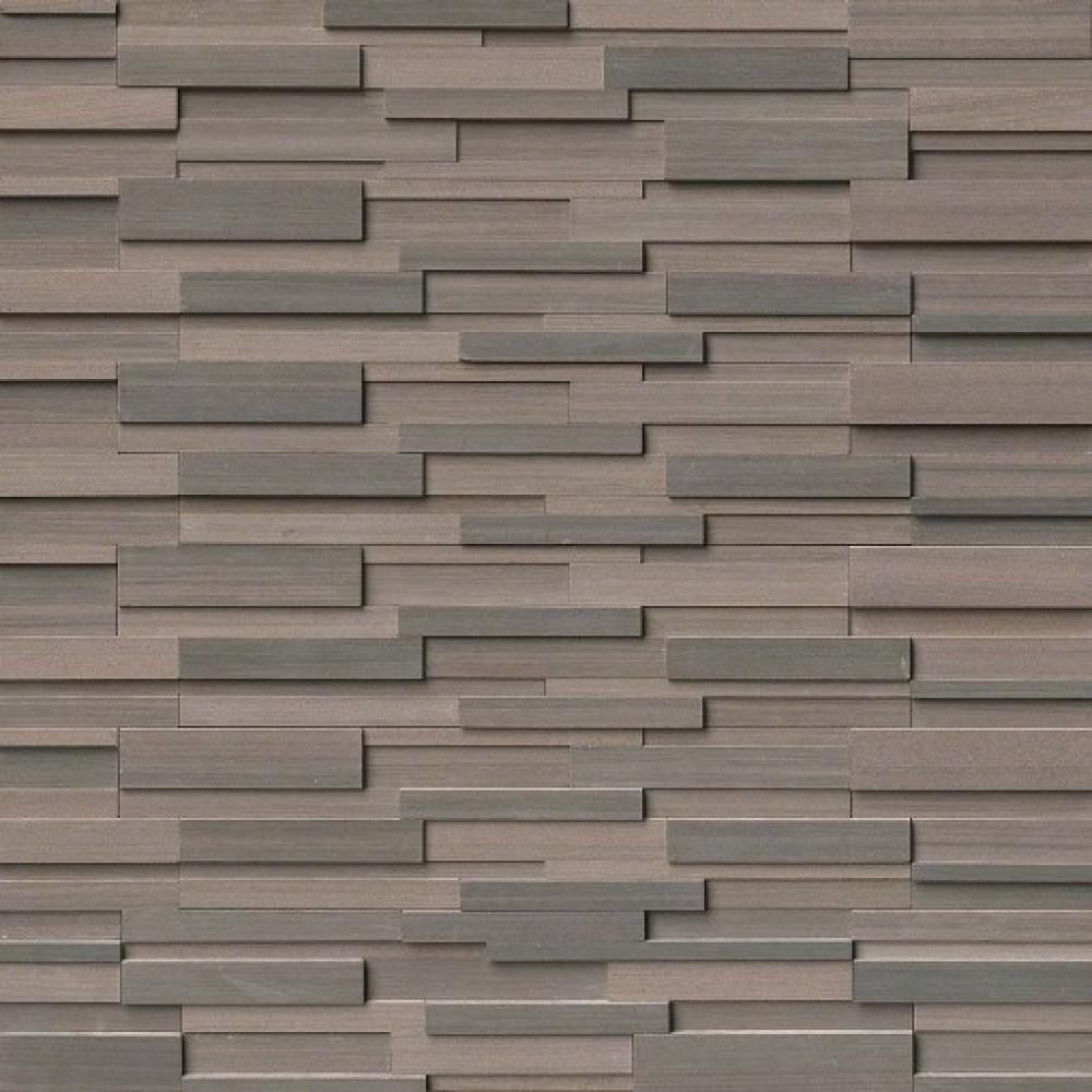 Brown Wave 6x18x6 3D Honed Corner Ledger Panel