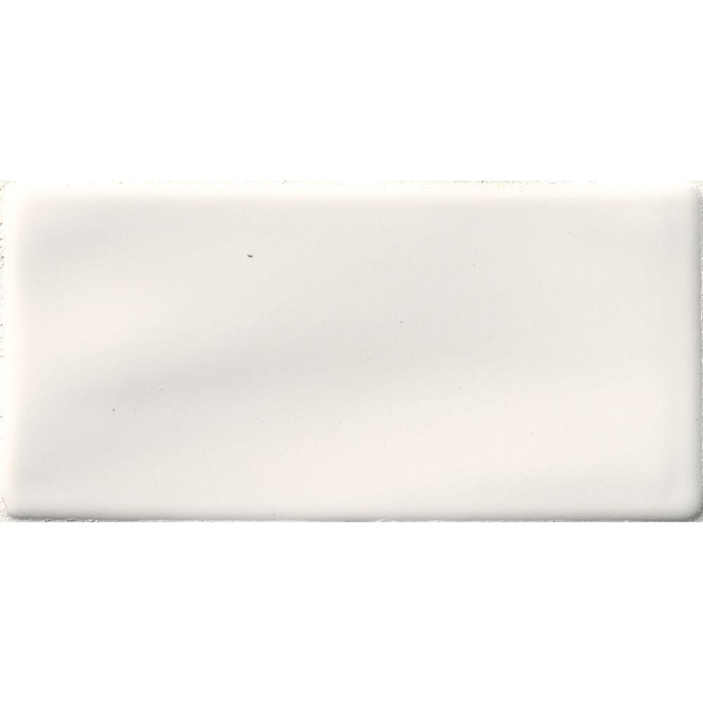 Whisper White Handcrafted 3x6 Glossy Subway