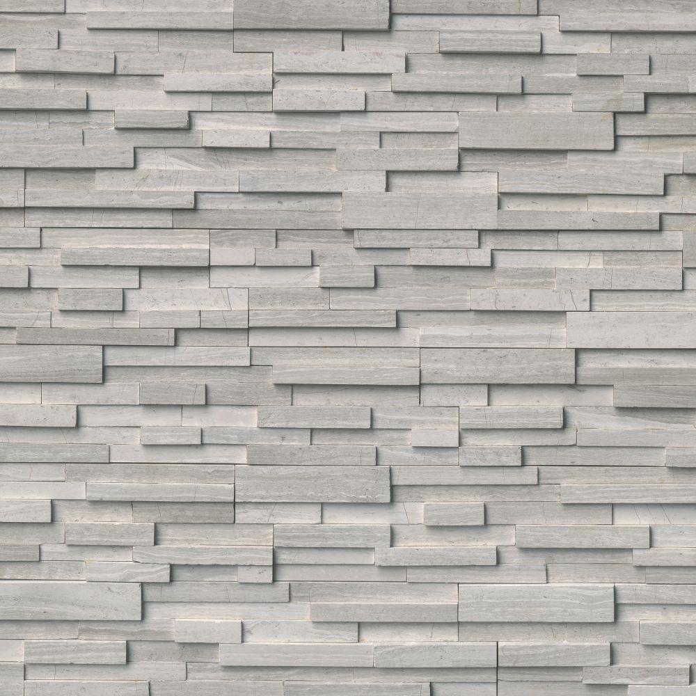 White Oak 6x12x6 3D Honed Corner Ledger Panel