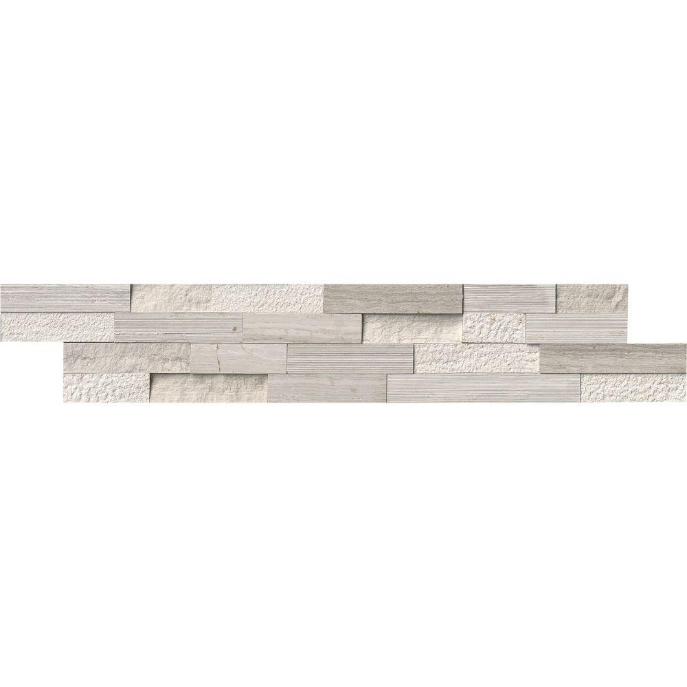 White Oak 6x24 Multi Split Face Ledger Panel