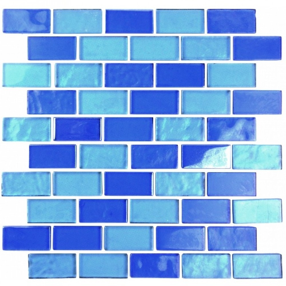 Landscape Horizon Textured 1X2 Glass Brick Mosaic