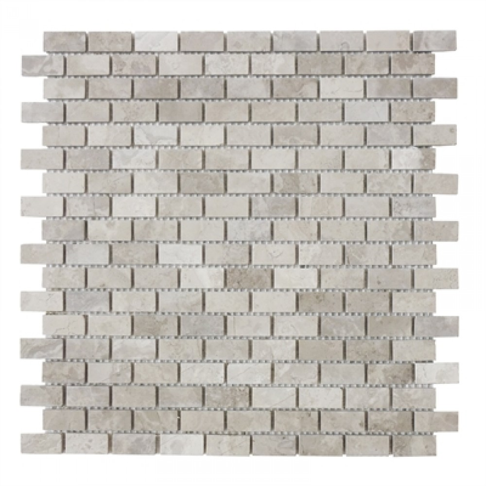 Wooden Mini Brick Marble Mosaic Tile