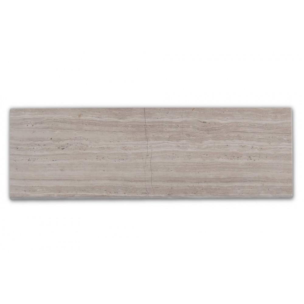 Wooden White 3x8 Honed Marble Tile