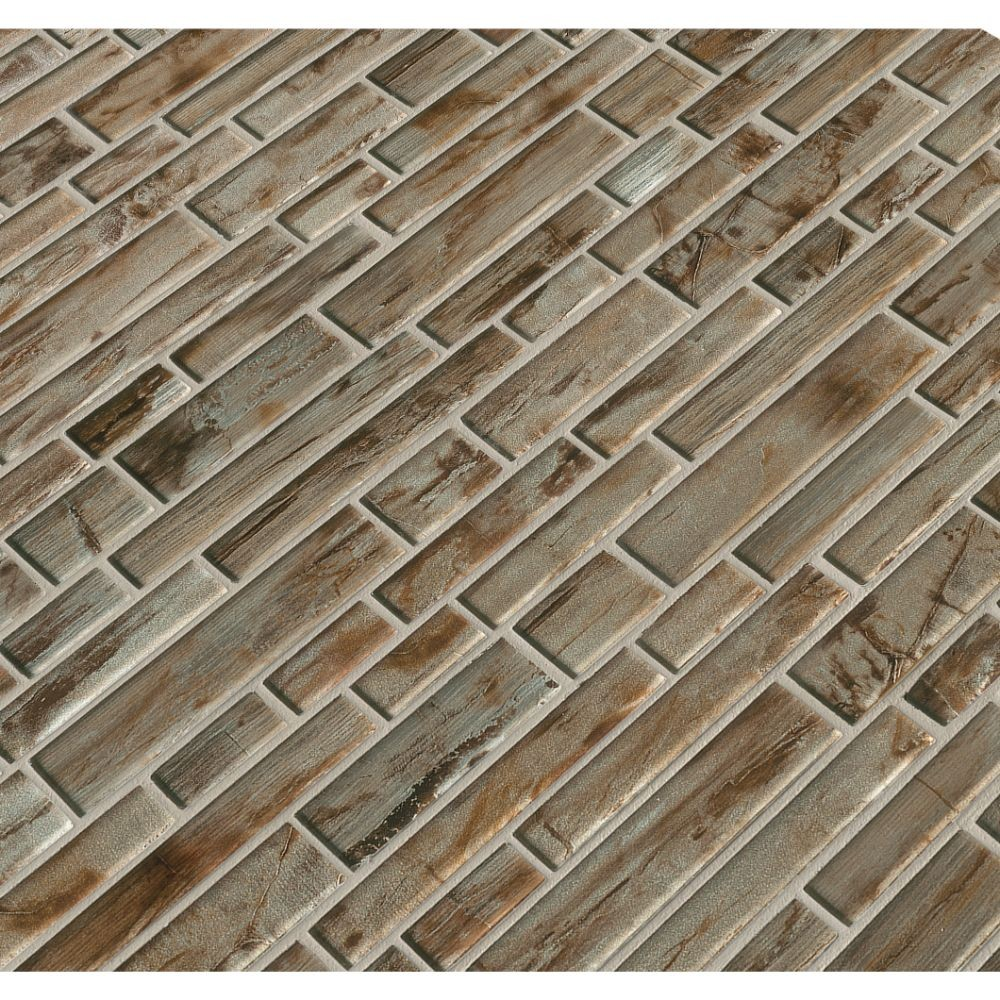 Zirconia Interlocking 12X12 Pattern Glass Mosaic