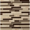 Amalfi Cafe Interlocking 6mm Glass Wall Tile