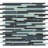 Black Blend Bamboo 8mm Interlocking Pattern