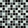 Black Blend 1x1 Glass Mosaic