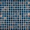 Blue Iridescent 3/4x3/4x4MM Mosaic