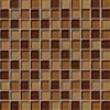 Brown Blend 1x1x8MM Glass Tile