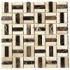 Checker Pattern Blend Polished Marble Mosaic