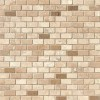 Noce Chiaro 12x12 Honed Mini Brick Travertine Mosaic