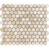 Cream Marfil 1x1 Hexagon Polished Mosaic