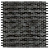 Glissen Black 5/8X5/8 Brick Pattern Glass Mosaic