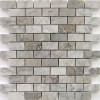 Temple Gray 1x2 Polished Marble Mosaic