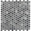 Grigio Mix Penny Round Glossy Ceramic Mosaic