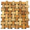 Autumn Gold Basket Weave Interlocking 12x12 Polished