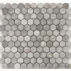 Gray Cloud Hexagon 1x1 Polished Mosaic