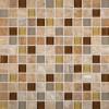 Honey Caramel Onyx 1x1 Glass Stone Blend Mosaic