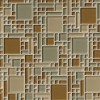 Mocha Cream Magic Pattern 8MM Mosaic