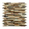 Natural Weave Glass Mix 12x12 Interlocking Mosaic