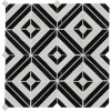 Rhombix Nero Pattern Polished Marble Mosaic