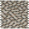 Sandy Beaches Blend 1X2X8MM Crackled Glass Mosaic