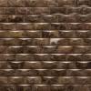 Emperador Dark 1x2 3D Polished Marble Mosaic