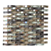 Shrilled Pearl 12x12 Brown Wave Interlocking Glass Blend Mosaic