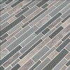 Smoky Alps Interlocking 8mm Glass Wall Tile