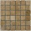 Travertino Walnut 2X2 Matte Porcelain Mosaic