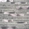 Volcanic Luxe Interlocking Pattern Glass Metal Mosaic
