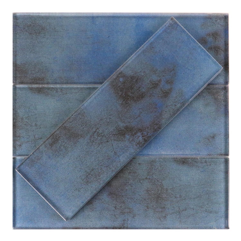 Dark Blue 3x9 Glass Subway Tile