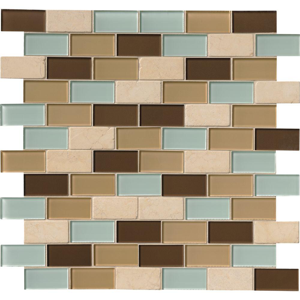 Desert Mirage Subway 2x4x8MM Mosaic