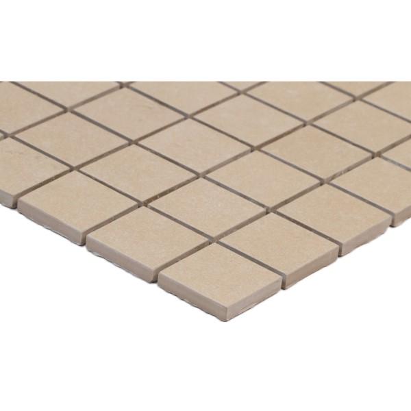Dimensions Khaki 2X2 Matte Mosaic