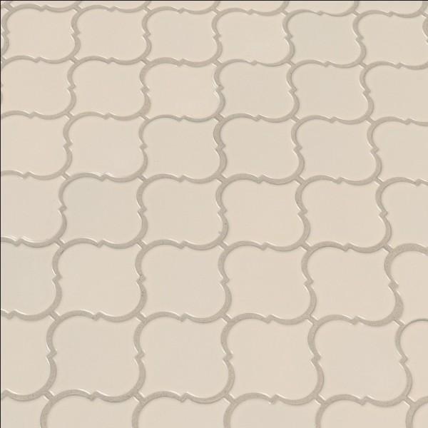 Almond Glossy Arabesque Mosaic