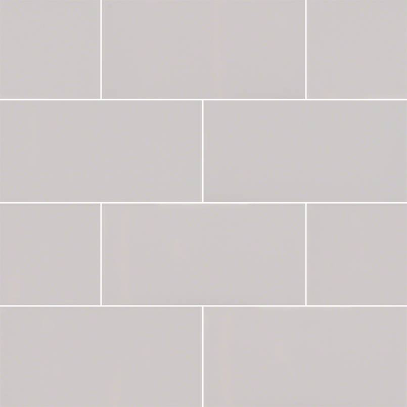 Domino Gray 3X6 Glossy Subway Tile