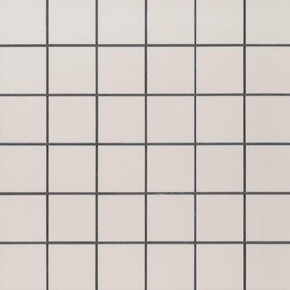 Domino White 2X2 Matte Porcelain Mosaic Tile