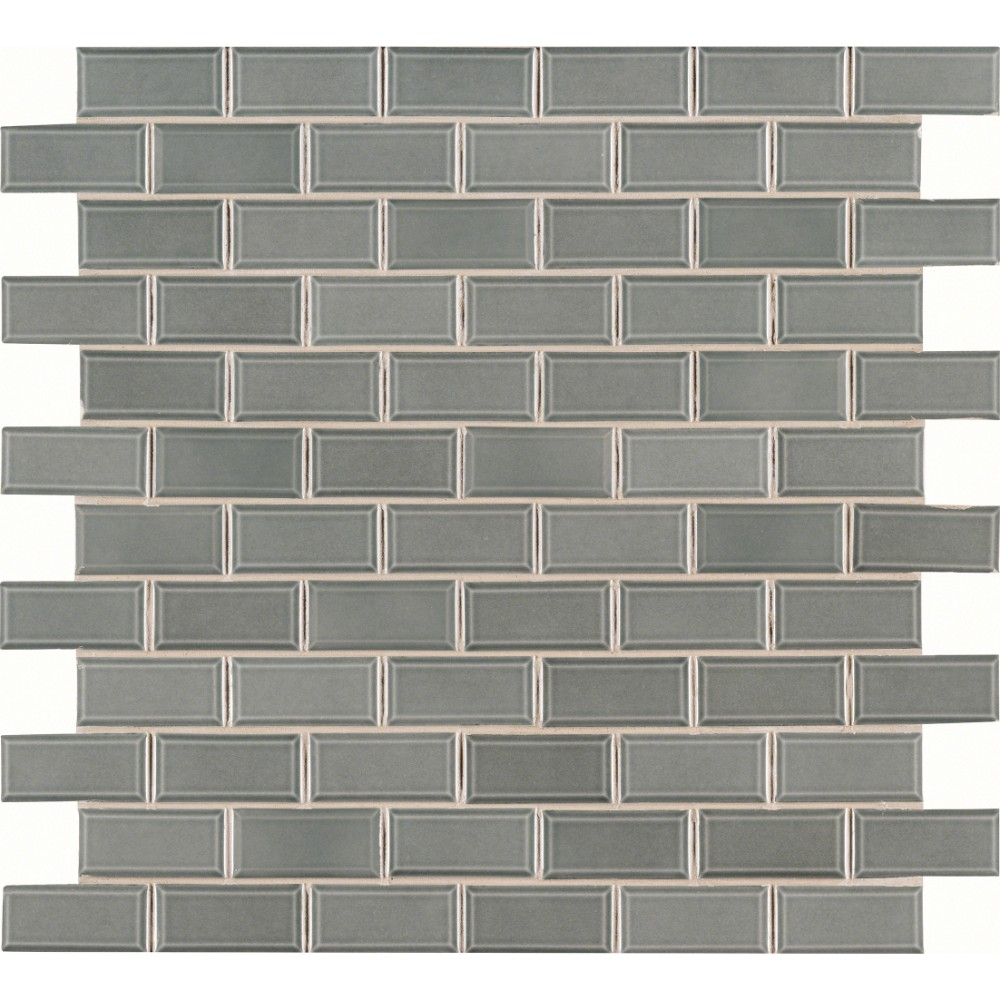 Donna Teal 2x4 Bevel Glossy Subway Ceramic Tile