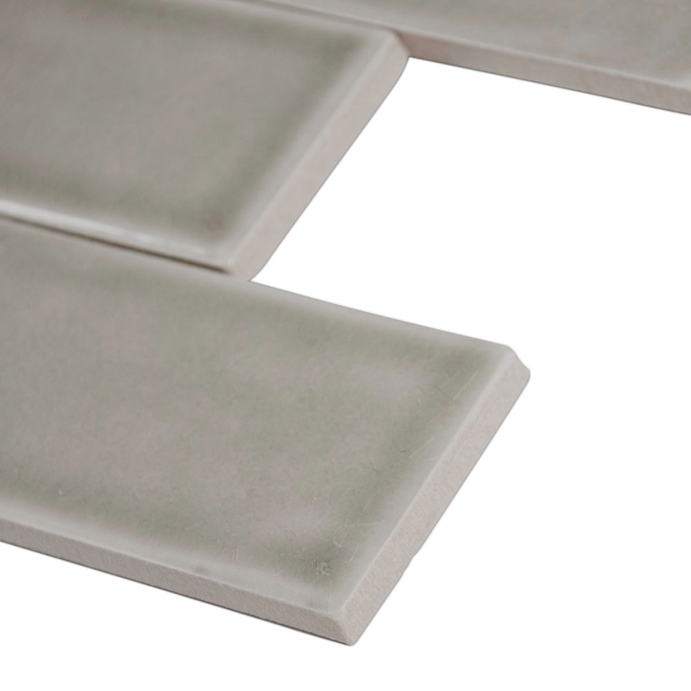 Dove Gray Handcrafted 3x6 Glossy Subway Tile